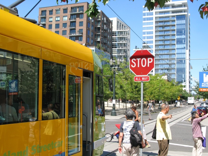 Portland Streetcar Stop