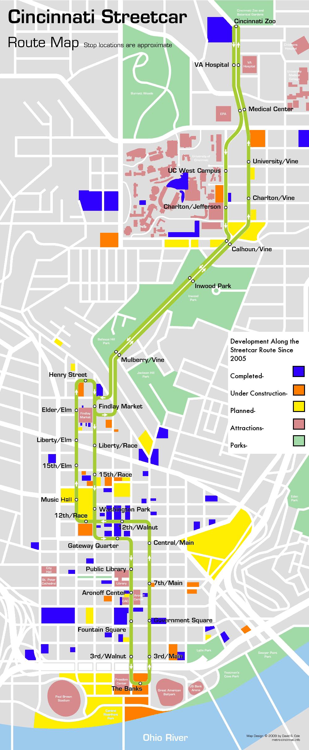 Cincinnati Streetcar Development Map CincyStreetcar Blog