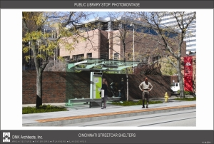 Cincinnati Streetcar Shelter Design