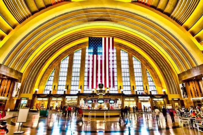Patriotic Cincinnati Union Terminal