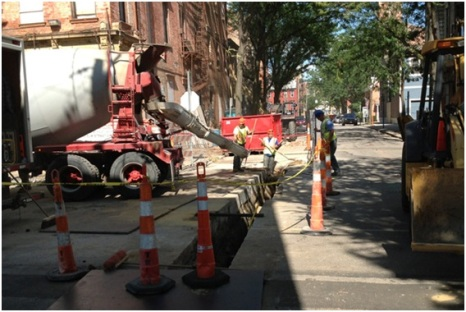 More utility work under way in Over-the-Rhine.