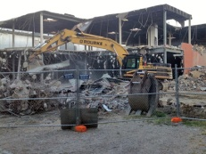 There's been a lot of progress on demolition of the second building at the MOF site.