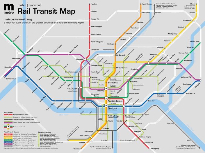 Metro|Cincinnati map